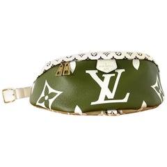Louis Vuitton Bumbag Limited Runway Giant Monogram Khaki 870427 Green Canvas