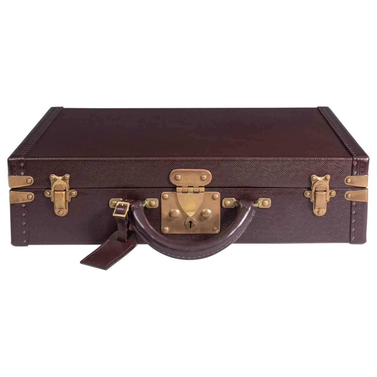 Louis Vuitton Burgundy Leather Attaché Case