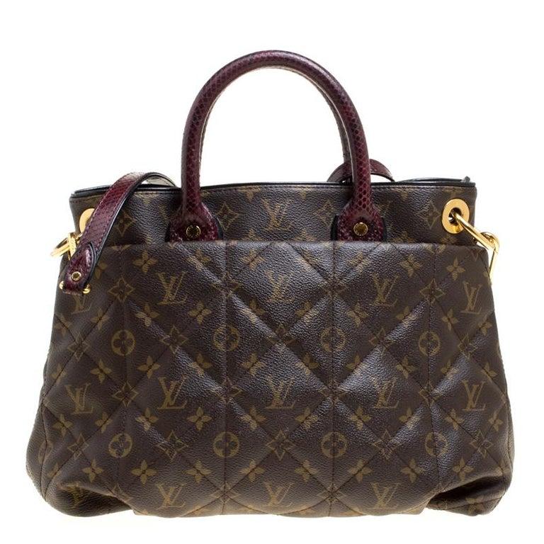 Women's Louis Vuitton Burgundy Monogram Canvas Limited Edition Etoile Exotique MM Bag For Sale