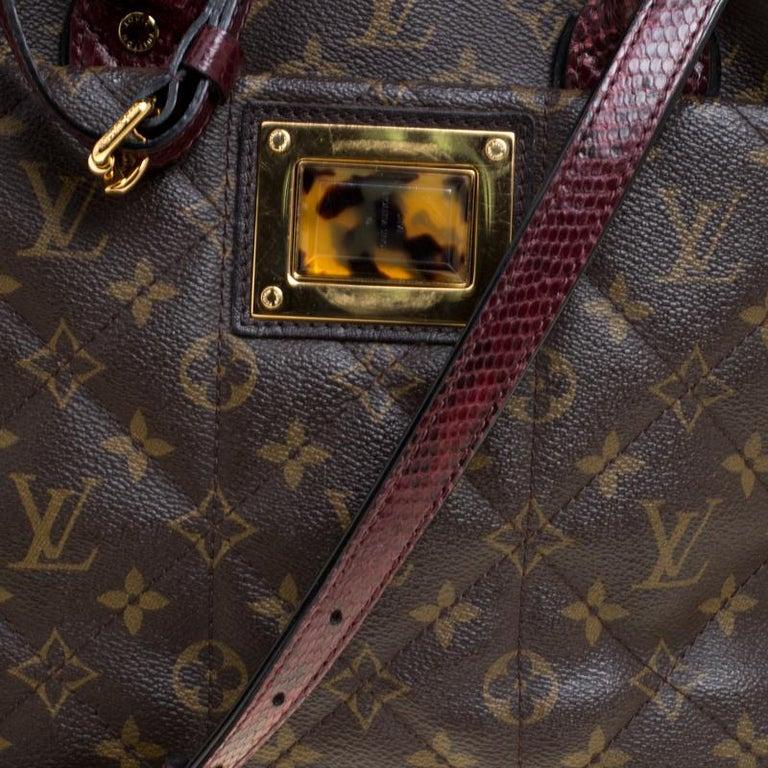 Louis Vuitton Burgundy Monogram Canvas Limited Edition Etoile Exotique MM Bag For Sale 1