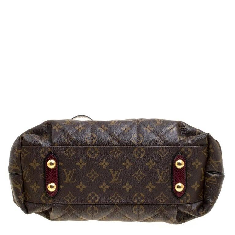 Louis Vuitton Burgundy Monogram Canvas Limited Edition Etoile Exotique MM Bag For Sale 2