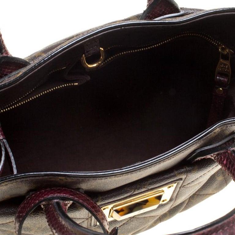 Louis Vuitton Burgundy Monogram Canvas Limited Edition Etoile Exotique MM Bag For Sale 3