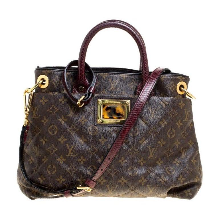Louis Vuitton Burgundy Monogram Canvas Limited Edition Etoile Exotique MM Bag For Sale