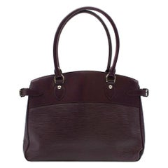 Louis Vuitton Burgundy Passy GM Epi Leather Bag
