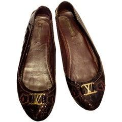 Louis Vuitton Burgundy Patent Pumps