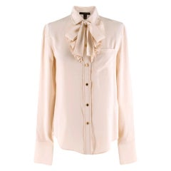 Louis Vuitton Button Down Ruffled Blouse XS