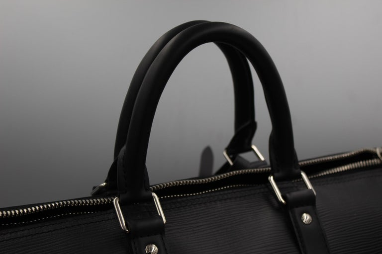 Louis Vuitton by Supreme Black Epi Leather Keepall For Sale 1