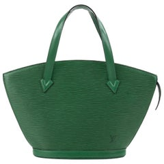 "LOUIS VUITTON c.1993 ""St. Jacques"" Borneo Emerald Green Epi Leather Handbag"