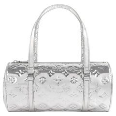 "LOUIS VUITTON c.2006 ""Papillon Miroir"" Silver Monogram Handbag 26 Ltd. Ed."