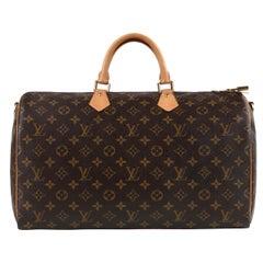 "LOUIS VUITTON c.2012 ""Speedy Bandouliere"" Monogram Coated Canvas Leather Handbag"