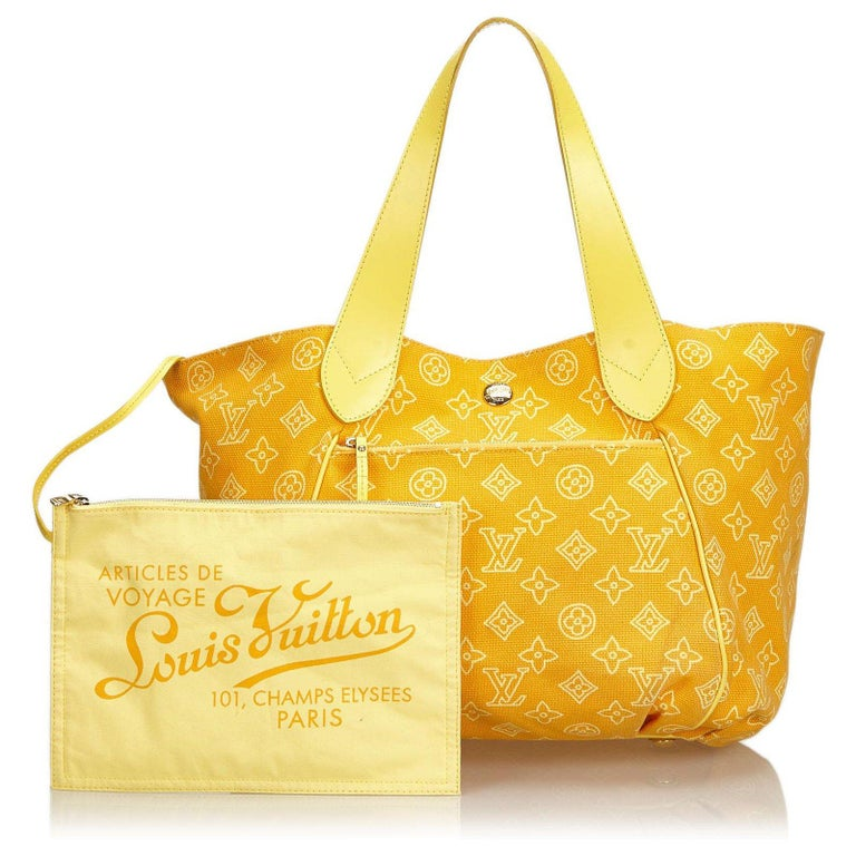 Louis Vuitton Cabas Ipanema Yellow shoulder bag In Excellent Condition For Sale In Capri, IT