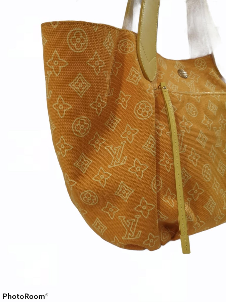 Louis Vuitton Cabas Ipanema Yellow shoulder bag For Sale 2