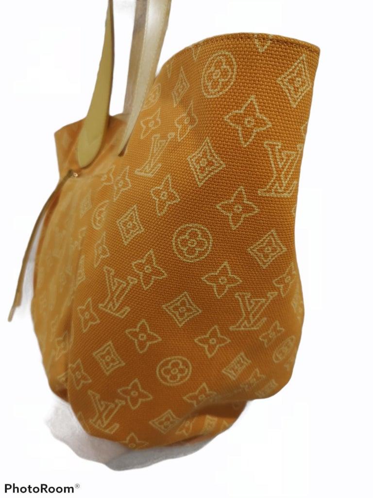 Louis Vuitton Cabas Ipanema Yellow shoulder bag For Sale 3