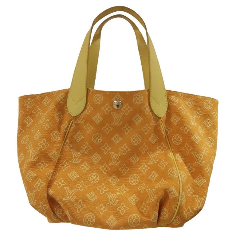 Louis Vuitton Cabas Ipanema Yellow shoulder bag For Sale