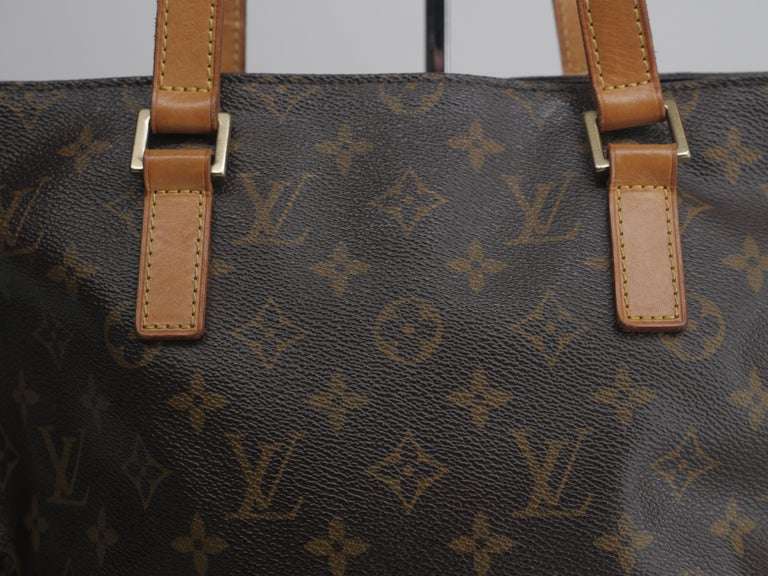 Cabas Piano Classic Monogram Canvas, 2 Leather Strap, Zipper Closure, as is
