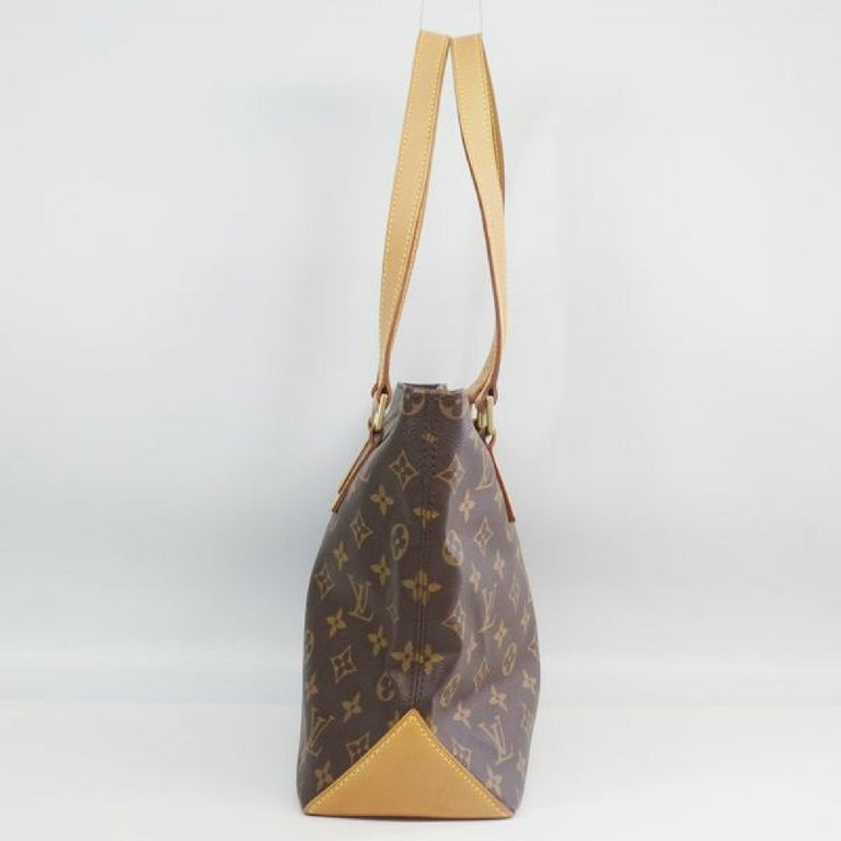 An authentic LOUIS VUITTON Cabas Piano Womens tote bag M51148 The outside material is Monogram canvas. The pattern is Cabas Piano. This item is Contemporary. The year of manufacture would be 2002. Rank AB signs of wear (Small) Used products in good