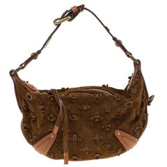 Louis Vuitton Cacao Suede Limited Edition Onatah Fleurs PM Bag