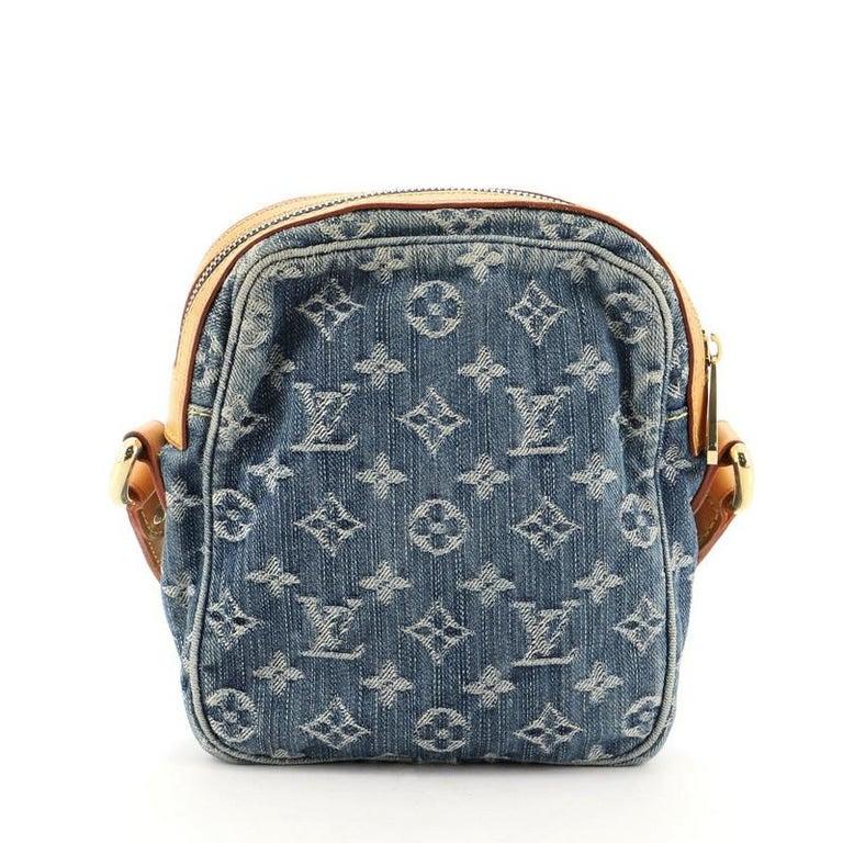 Gray Louis Vuitton Camera Bag Monogram Denim For Sale
