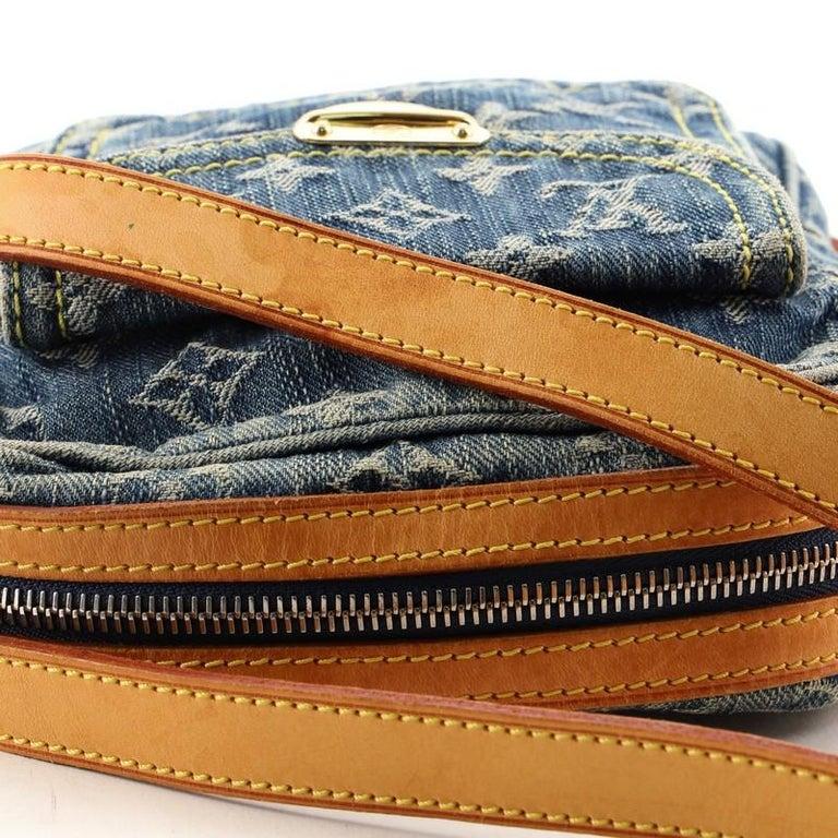 Louis Vuitton Camera Bag Monogram Denim For Sale 3