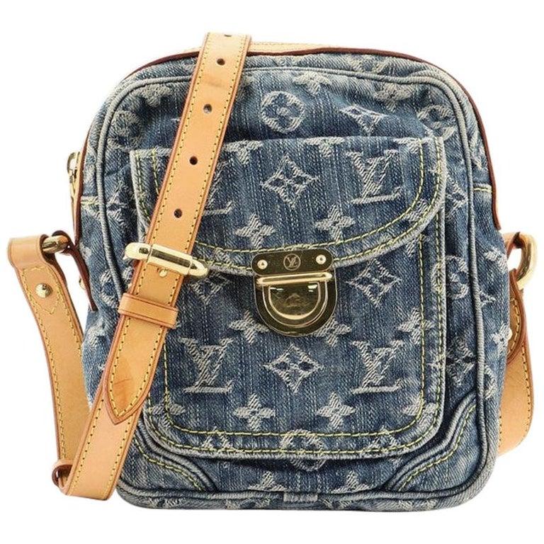 Louis Vuitton Camera Bag Monogram Denim For Sale