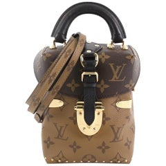 Louis Vuitton Camera Box Handbag Studded Reverse Monogram Canvas