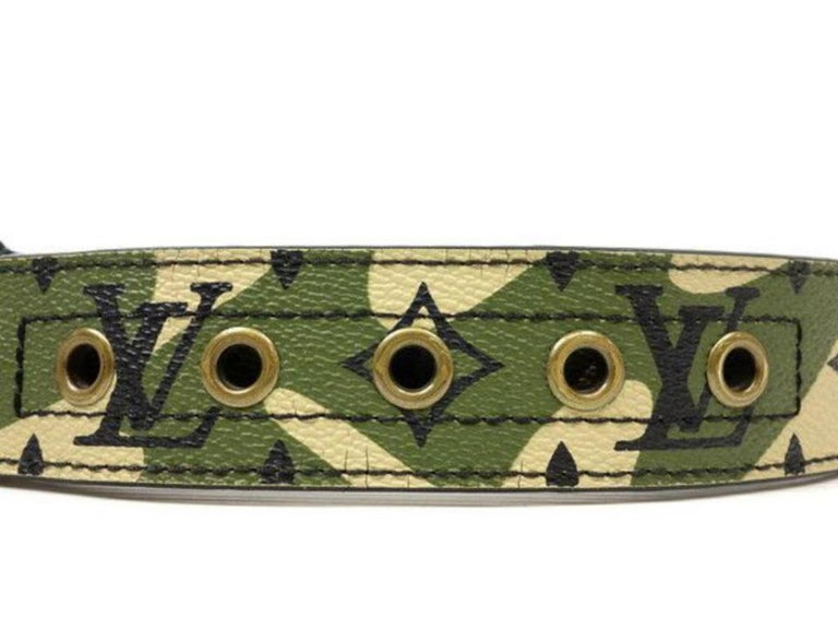 e2f0642dbc22 Louis Vuitton Camouflage (Ultra Rare) Camo Monogram Monogramouflage 227179  Belt For Sale 2
