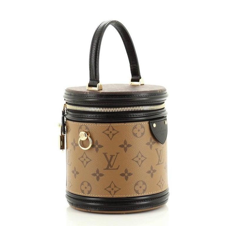 Brown Louis Vuitton Cannes Handbag Reverse Monogram Canvas For Sale