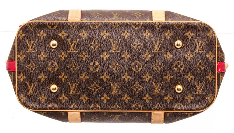 Louis Vuitton Canvas Leather Monogram Rubis Salina Tote Bag In Good Condition For Sale In Irvine, CA