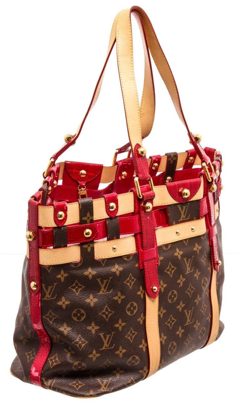 Women's Louis Vuitton Canvas Leather Monogram Rubis Salina Tote Bag For Sale