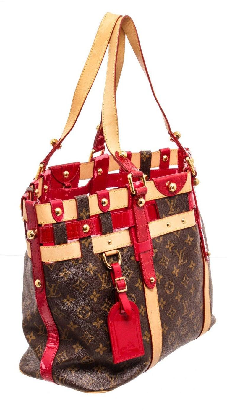 Louis Vuitton Canvas Leather Monogram Rubis Salina Tote Bag For Sale 1