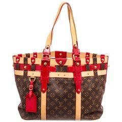 Louis Vuitton Canvas Leather Monogram Rubis Salina Tote Bag