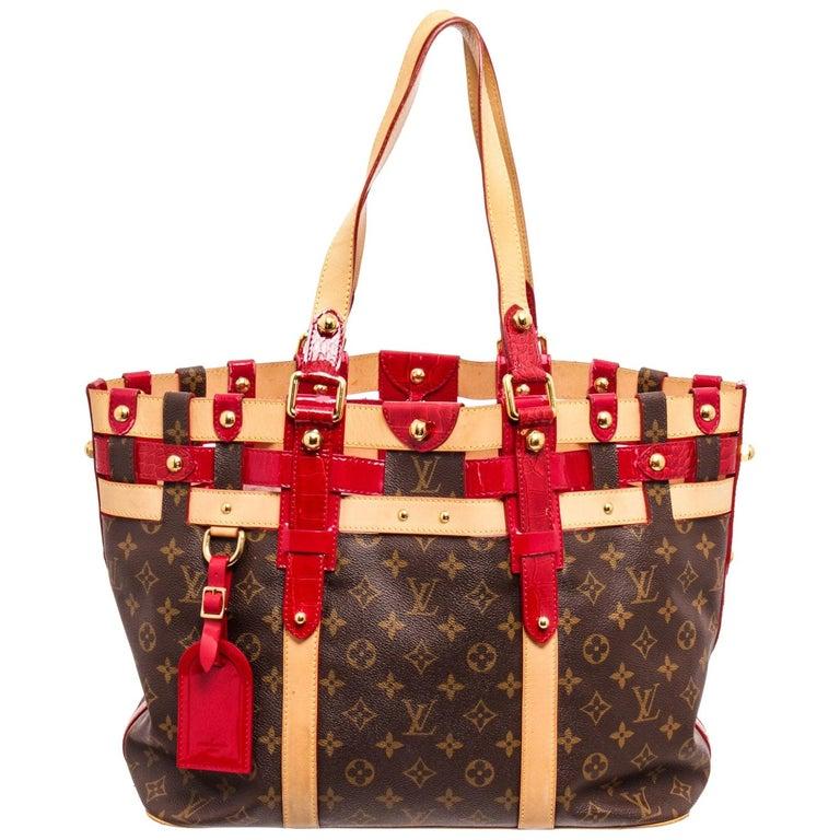 Louis Vuitton Canvas Leather Monogram Rubis Salina Tote Bag For Sale