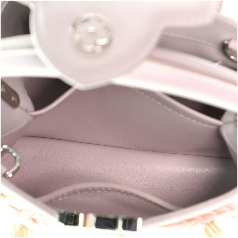 Louis Vuitton Capucines Bag Embellished Leather Mini For Sale 1