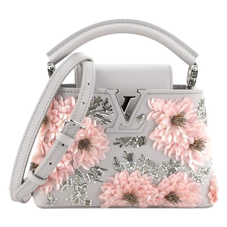 Louis Vuitton Capucines Bag Embellished Leather Mini For Sale