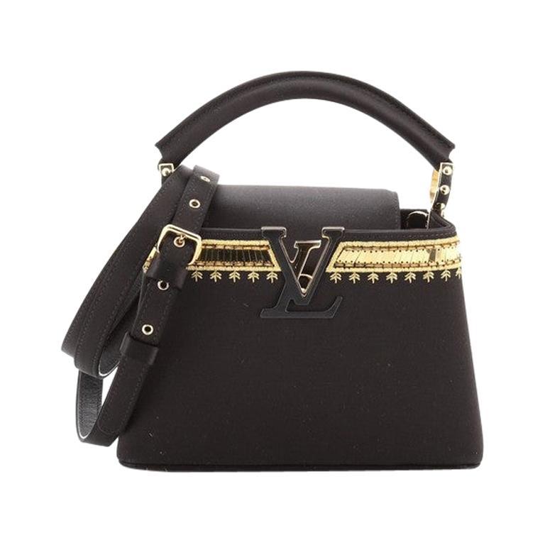 Louis Vuitton  Capucines Bag Embellished Satin Mini