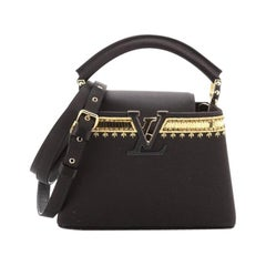 Louis Vuitton  Capucines Bag Embellished Satin Mini