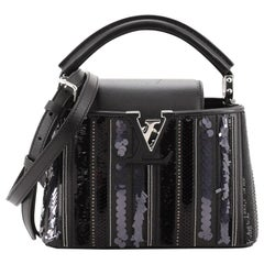 Louis Vuitton Capucines Bag Sequin and Beaded Leather Mini
