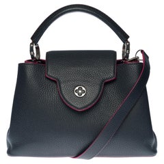 Louis Vuitton Capucines BB handbag with strap in Navy Blue leather, SHW