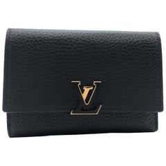Louis Vuitton Capucines Black Taurillon Leather Wallet
