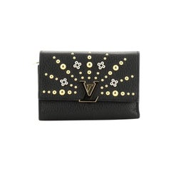 Louis Vuitton Capucines Compact Wallet Embellished Leather