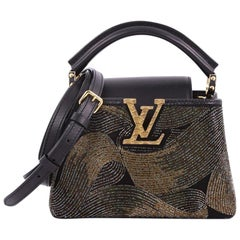 Louis Vuitton Capucines Handbag Beaded Leather Mini