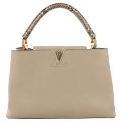 Louis Vuitton Capucines Handbag Leather and Python MM