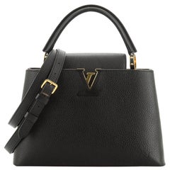 Louis Vuitton Capucines Handbag Leather PM