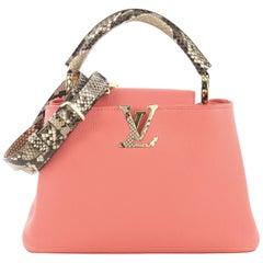 Louis Vuitton Capucines Handbag Leather with Python BB