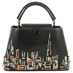 Louis Vuitton Capucines Handbag Limited Edition City Beaded Leather BB