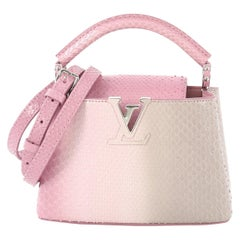 cb549c6b787 Louis Vuitton Capucines Handbag Python Mini