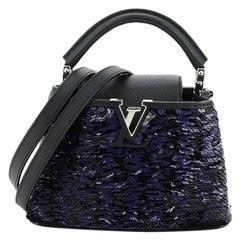 Louis Vuitton Capucines Handbag Sequins Mini