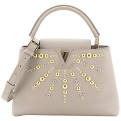 Louis Vuitton Capucines Handbag Studded Leather PM
