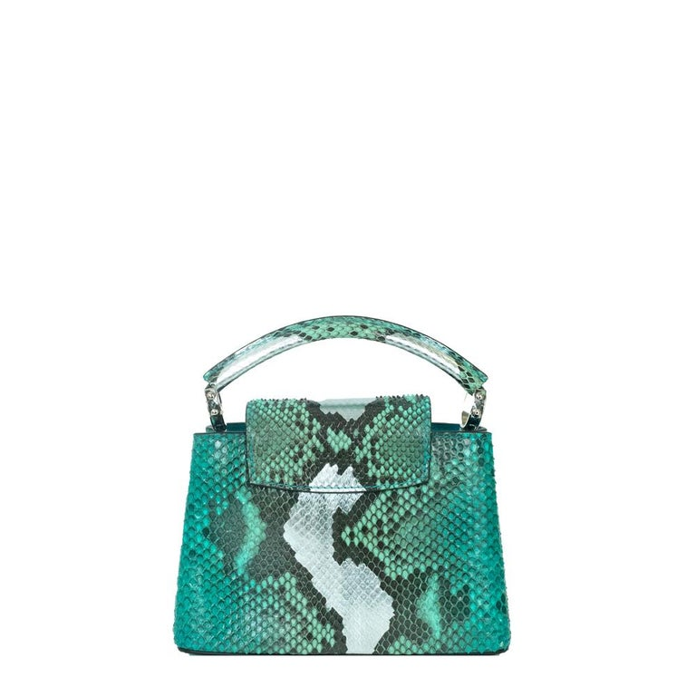 Green Louis Vuitton, Capucines in green python For Sale