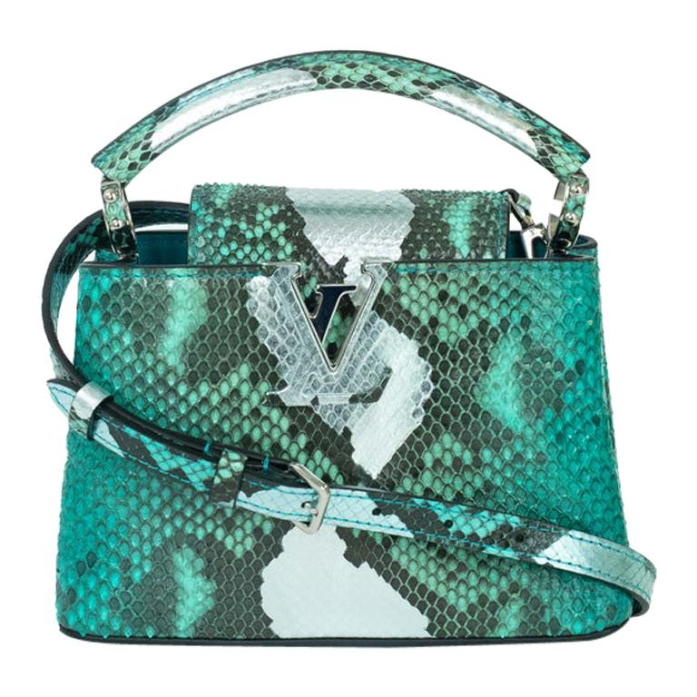 Louis Vuitton, Capucines in green python For Sale